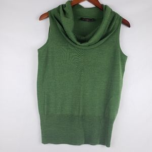 The Limited Cowl Neck Sleeveless Wool Sweater L